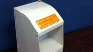 小型クーポン発券端末「DC-001WL」の用紙交換方法