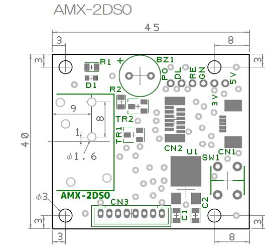 AMX-2DS1基板配置